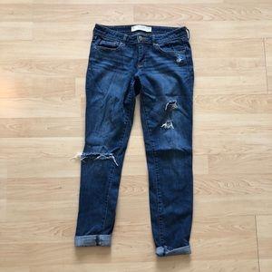 Abercrombie & Fitch Boyfriend Distressed Jeans
